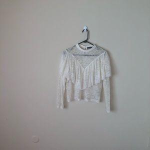 Zara XS. Never worn. Lace top